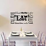 stickers muraux ecriture anglais stickers muraux macaron cuisine sticker mural nourriture Morsel din-din déjeuner devis devis sticker mural pour cuisine salle à manger