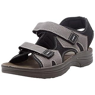 INBLU Men's Rudy Open Toe Sandals, Grey (Grigio 025), 10.5 UK 10.5 UK