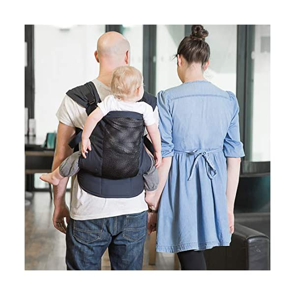 Izmi Toddler Breeze Carrier, Featuring Breathable Mesh Panel, Ideal for Babies 9 Months Plus, Midnight Blue Izmi Ideal for carrying babies 9 months plus Features a mesh panel for extra ventilation and breath-ability Padded waistband for extra support 5