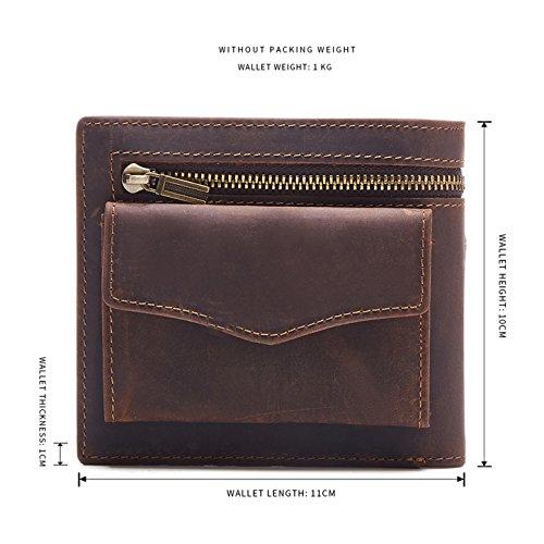 Hill Burry Geldbörse / Portmonnaie aus naturgegerbten weichem Leder / Vollleder