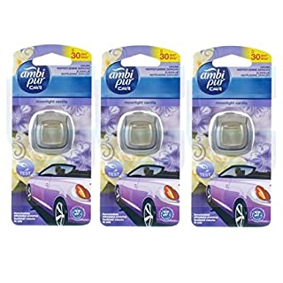 Ambi Pur Car moonlight vanilla / Vanille 3er packung ( 3x 2ml)