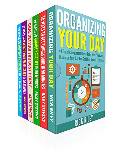 Organize Your Day And Increase Productivity Box Set (6 in 1): Learn Over 200 Ways To Motivate Yourself And Accomplish Your Goals (Time Management, Getting Things Done Quickly)