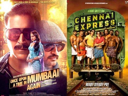 Chennai Express / Once Upon a Time in Mumbai Dobaara! (Hindi Movie / Bollywood Film / Indian Cinema DVD) 2 in 1 Orginal Without