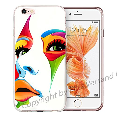Blitz® LIPS motifs housse de protection transparent TPE caricature bande iPhone Bouche érotique M15 iPhone 8sPLUS Artiste M16