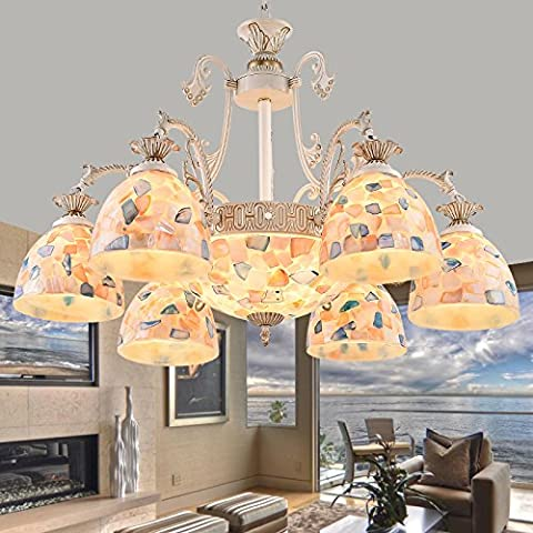 Wandun Ftte European-Style Giardino Sala Lampadario Shell Sala Da Pranzo Illuminazione