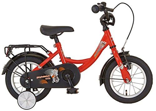 """Prophete Kinderrad 12 1/2 """", EINSTEIGER, Dekor Prophetefant, vorne V-Bremse, hinten Rücktrittbremse, Einrohr-Rahmen, 21 cm RH, rot"""