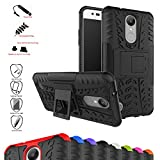 LG K8 2017 / LG K4 2017 / LG Rebel 2 / LG Phoenix 3 / LG Fortune / LG Risio 2 / LG Aristo / LG X300 / LG LV1 Case,Mama Mouth Shockproof Heavy Duty Combo Hybrid Rugged Dual Layer Grip Cover with Kickstand For LG K8 2017 / LG K4 2017 / LG Rebel 2 / LG Phoenix 3 / LG Fortune / LG Risio 2 / LG Aristo / LG X300 / LG LV1(5.0 inch) Smartphone(With 4 in 1 Free Gift Packaged),Black