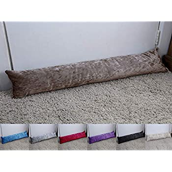 Faux Fur Draught Excluder Draft Wind Stopper Door Seal Cushion Sausage