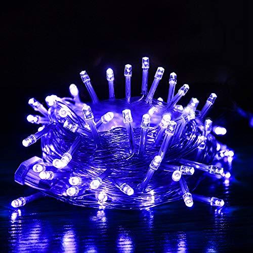 JUNMAONO Weihnachts Dekoration LED Lichterkettenvorhang 10m wasserfest Sternen 100 Stück Lichter Einstecken Stil LED Lichterkette Lichtervorhang für Weihnachten Deko,Weihnachtsschmuck (6) -