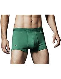- - Homme - Boxer trunk en piqué de coton vert pour homme -