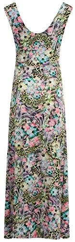 Chocolate Pickle ® Nouveaux Femmes Grande Taille de Grecian Boob Knot imprimé à fleurs longue Maxi Dress 36-54 Splash-Yellow
