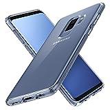 Coque Samsung Galaxy S9 Plus, Spigen [HARD back panel + FLEXIBLE bumper] Resistante, Protection Coins, Anti Choc [Ultra Hybrid] [TRANSPARENTE] Coque Housse Etui pour Galaxy S9 Plus - (593CS22923)