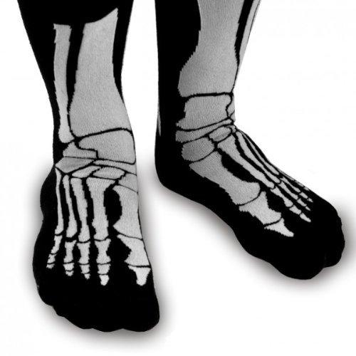 Witzige Socken mit Aufdruck - Skelett (Halloween Socken)