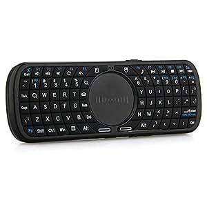 SODIAL (R)iPazzPort Mini Clavier 2.4GHz Sans Fil Avec Pave Tactile LED Telecommande