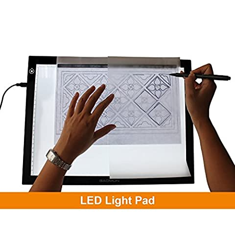 NHSUNRAY LED Lighted Pad Ultra-thin/5mm USB Portable Illumination Tracing Lightbox