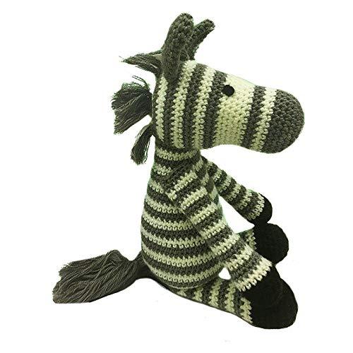 (Grau Braun Weiß Zebra Spielzeug Häkeln Stricken Süchtig Kit Amigurumi Kinder Handwerk DIY Geschenk-20cm)