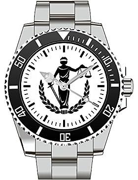 Kiesenberg Uhr Geschenkidee Geschenk für Männer Anwalt Gericht Justicia - Armbanduhr 1802