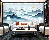HONGYUANZHANG Elegante Sonnenaufgangansicht Benutzerdefinierte 3D-Fototapete Künstlerische Landschaft Tv Hintergrundbild,56Inch (H) X 88Inch (W)