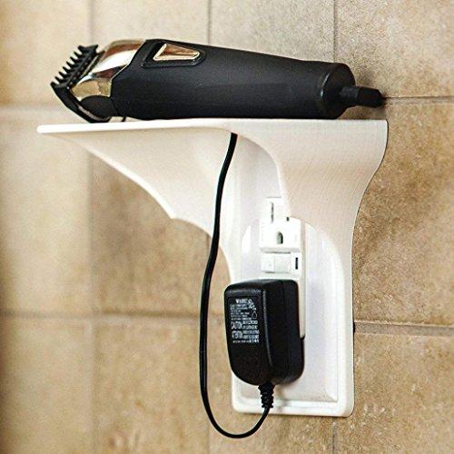 Oldeagle Ultimate Auslass Regal, Einfache Installation Steckdose Regal für Badezimmer, Küche, Mehrbettzimmer, Schlafzimmer und Garagen