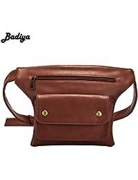 Buyworld New Women's Fashion Waist Pack Fanny Packs Pu Belt Phone Bag Travel Waist Bags Anti-Theft Male Waist...