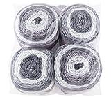 Gründl Lolly Pop, Vorteilspack 4 Knäuel à 150 g Handstrickgarn, 100% Polyacryl, Silver Swirl, 24 x 24 x 10 cm