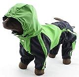 Colleer Hunde-Regenmantel Wasserdicht mit 4 Beine Haustier Regenmantel Hund Regenjacke