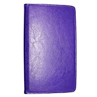 Kamal Star KINDLE FIRE HD 10 2015 Case, Leather Wallet flip cover,back stand cover, Full Body protection tablet cover by (Plain Purple)