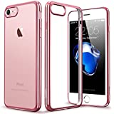 Coque iPhone 7, ESR Coque iPhone 7 Housse Etui [Glitering Frame] TPU Silicone Clair Transparente ...