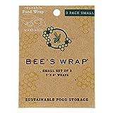 Bee's Wrap Set of 3 Wraps - Small (18 x 20 cm), Beige