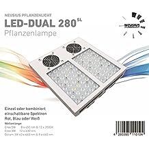LED Pflanzenlampe DUAL 280SL Neusius Pflanzenlicht | 5 Band Lichtspektrum Pflanzenleuchte | Lichttechnik LED Grow Lampe Pflanzenzucht wachsen Wuchs Pflanzen-Beleuchtung Pflanzenwachstum Wachstumslampe