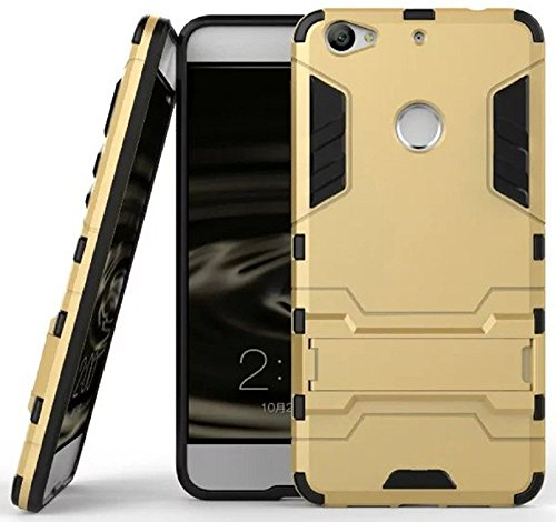 Heartly Graphic Designed Kick Stand Hard Dual Rugged Armor Hybrid Bumper Back Case Cover For Letv LeEco Le 1S - Mobile Gold