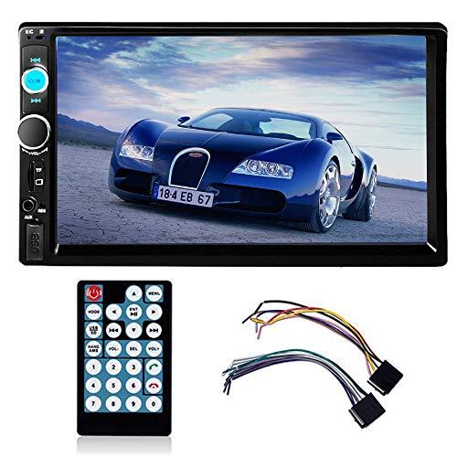 PolarLander Autoradio Bluetooth,Radio Voiture, Radio Mains Libres Stéréo,Lecteur MP3, Écran Tactile de 7 Pouces, 12V 2DIN FM MP3 TF USB AUX in Multimédia Bluetooth Player avec télécommande