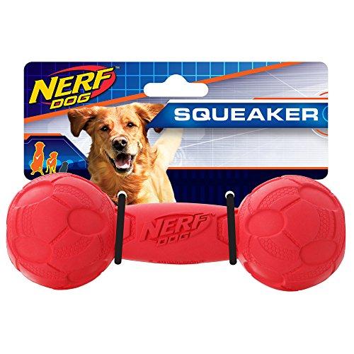 Nerf Dog Quietschen Barbell Hundespielzeug