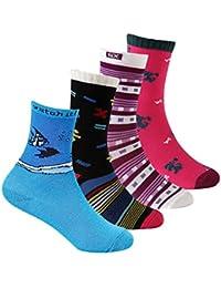 Supersox Boys' Regular Length Socks (Pack of 4)