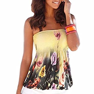 Stretchy Floral Flower Off Shoulder A Shape Flare Sexy Summer Short Tops Blouses