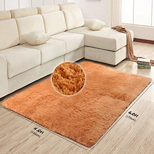 Tappeto per Soggiorno Grigio Tappeti Moderno Shaggy Soft Touch Carpet (120x 80cm)