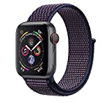 Corki für Apple Watch Armband 38mm 40mm, Weiches Nylon Ersatz Uhrenarmband für iWatch Apple Watch Series 4 (44mm), Series 3/ Series 2/ Series 1 (42mm), Indigo