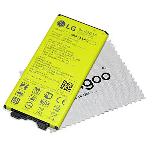 Original LG Li-Ionen Akku BL-42D1F mit 2800 mAh für LG G5 H850 (Batterie) - EAC63238801 + Gratis mungoo Displayputztuch