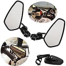 Retrovisor de motocicleta, OSAN Universal motocicleta espejos Retro 22 7/8 mm para manillar de Moto aluminio CNC de efecto espejo trasero vista lateral