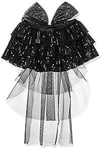 Carnival Toys 03342 - falda de lentejuelas Negro con el arco