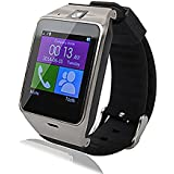Aplus GV18 Smart Bluetooth 3.0 NFC Waterproof Watch Phone Camera TF Card Wristwatch for Smartphones IOS Android Apple iphone 5/ 5C/ 5S /6/ 6 Plus Android Samsung S3/ S4/ S5/ S6/ S6 Edge Note 2/ Note 3/ Note 4/ Note edge HTC M8/ M9 Sony Black, [Importado de UK]