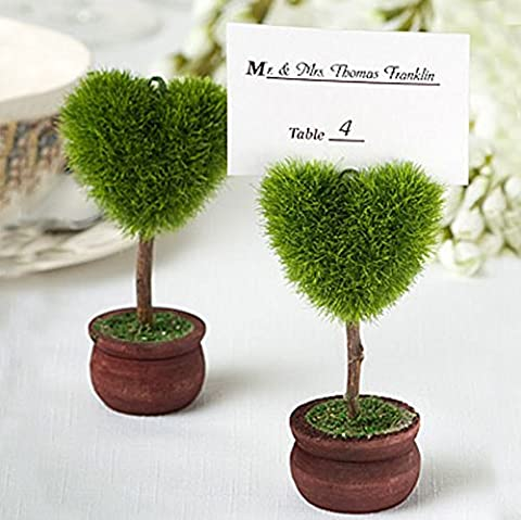 New Heart Topiary Wedding Party Place Card Holder & Balloon Weight