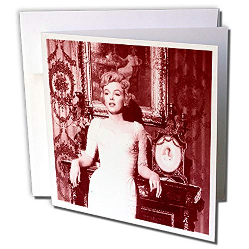 3dRose gc_233929_5 Grußkarte, Motiv Sexy Bild von Marilyn Monroe, cooles Foto, 15,2 x 15,2 cm 6-zoll-sexy