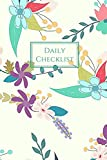 Daily Checklist: To-Do List Journal with Checkboxes Folk Art Flowers