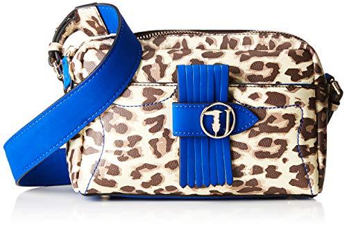 Trussardi Jeans 75B00512-9Y099998, Borsa a Tracolla Donna, Blu (Electric Blue), 27x18x12 cm (W x H x L)