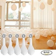 Idea Regalo - YOHOOLYO 50 x Palloncini LED Palloncini Luminosi Palloncini Bianchi Luce Led Bianca per Matrimoni Festa Compleanno ecc - Bianco