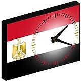 """Reloj de pared personalizado, Diseño """"ÄGYPTEN - EGYPT"""" rectangular, 20x14cm ( V.I.P. Pictures World powered by CRISTALICA )"""