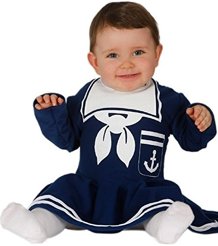 12 Dress Monate Kostüm 9 Baby Fancy - Fancy Me Baby Mädchen Marineblau Matrose Halloween Kostüm Kleid Outfit 6-12 12-24 Monate - Blau, 6-12 Months