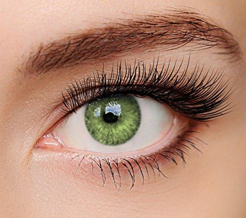 ELFENWALD farbige Kontaktlinsen, 3 - Monatslinsen, INTENSE GRÜN/SMARAGD, stark deckend, natürlicher Look, maximaler Tragekomfort, ohne Stärke, 1 Paar weiche Farblinsen, inkl. Behälter und Anleitung (Kontaktlinsen Farbige Natürliche)