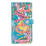 Shagwear Junge-Damen Geldbörse, Large Purse: Verschiedene Farben und Designs: (Blumen Liebe Türkis/Love Floral)